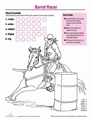 educational horse coloring pages horse fun barrel racer coloring page education com