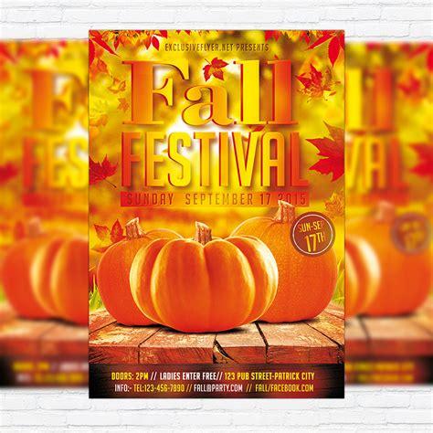 autumn fall festival premium flyer template facebook