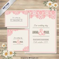 ornamental wedding invitation card vector free