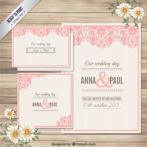 Wedding Invitation Cards Free by Ornamental Wedding Invitation Card Vector Free