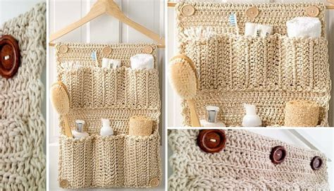 bathroom pattern crochet bathroom door organizer patterns