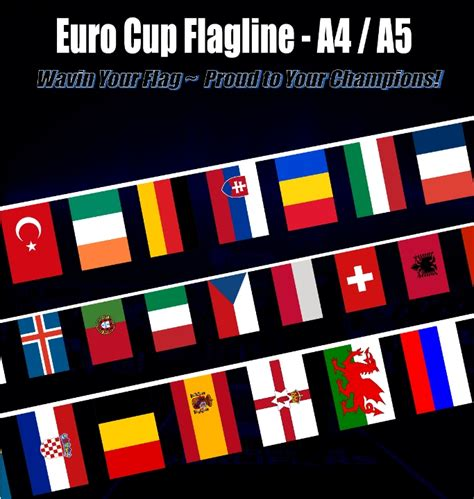 Bunting Flag Bendera Dekorasi Pesta cup flag 2016 bendera uefa cup sale