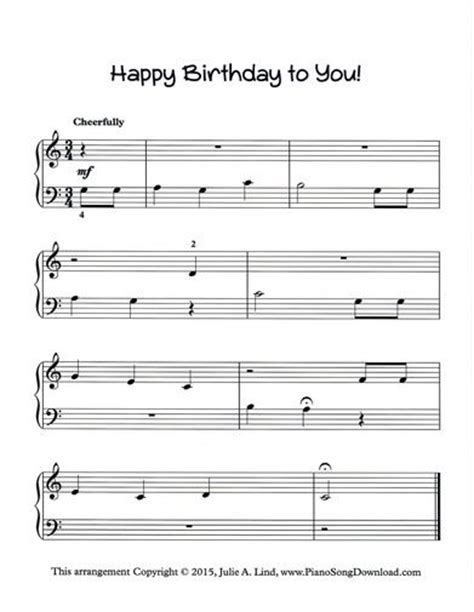 download happy birthday piano music mp3 happy birthday to you free piano sheet music to print