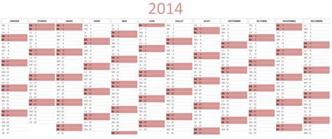 Calendrier X 2014 Calendrier 2014 224 T 233 L 233 Charger Sur Excel Apprendre Excel