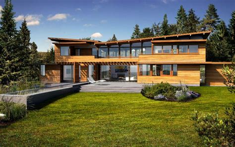 modern green home plans eco friendly modern studio kit by lindal cedar homes
