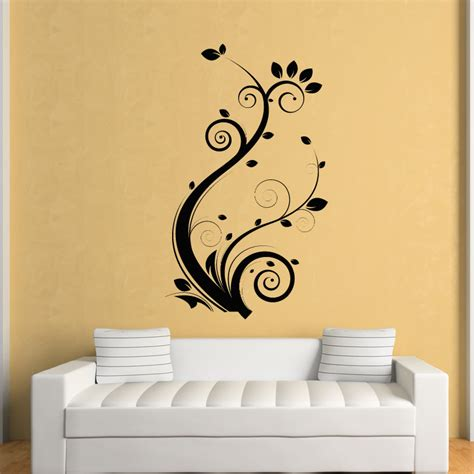 wall art floral leaves flowers wall art stickers wall decal