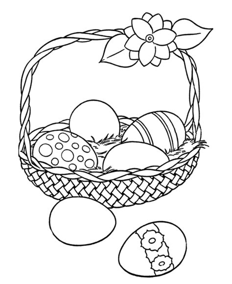 coloring egg ideas easter egg coloring pages big easter basket with eggs