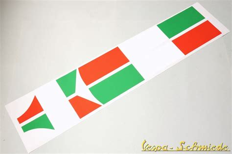 Aufkleber Italien Vespa by Vespa Banner Kotfl 252 Gel Seitenhaube Quot Italian Flag