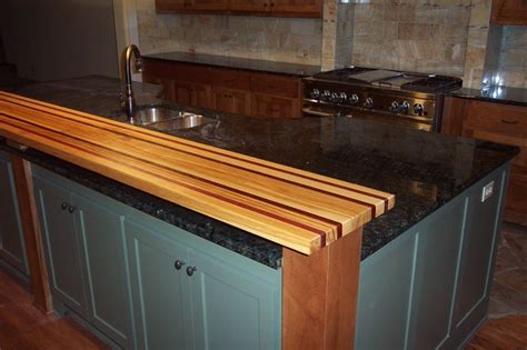 Wood Bar Top Ideas by Pecan Purple Edge Grain Wood Bar Top Traditional