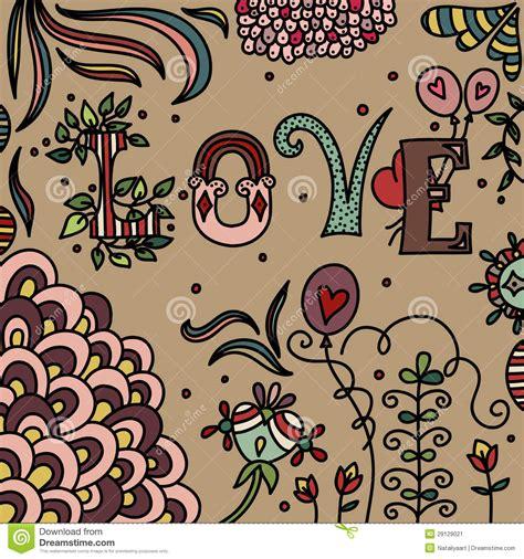 doodle romantis doodle stock image image 29129021