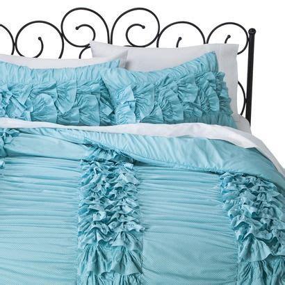 xhilaration ruffle comforter xhilaration 174 textured comforter set turquoise white