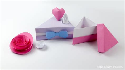 Origami Pizza - learn how to make an origami cake slice box the