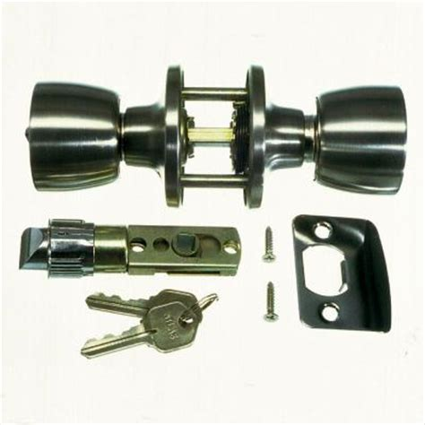 danco entrance door lock set for mobile homes in brushed