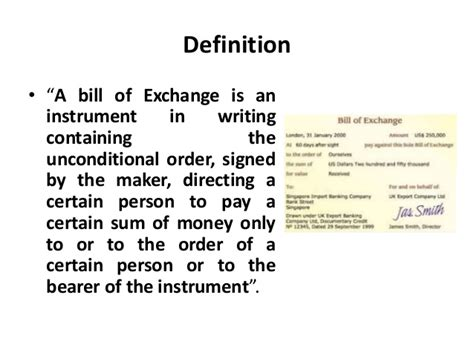 bill of exchange environment of business