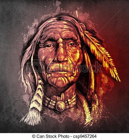 dessin de tatouage croquis t 234 te am 233 ricain indien