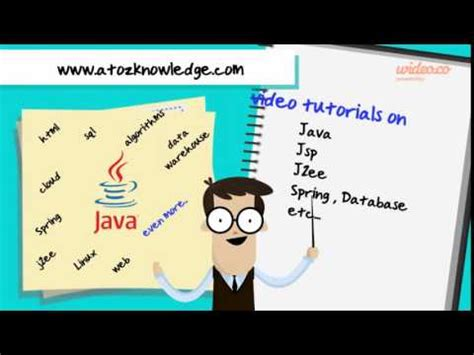java tutorial in tamil atozknowledge com promo youtube
