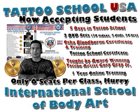 online tattoo school training certification tattoo school u s a learn how to tattoo