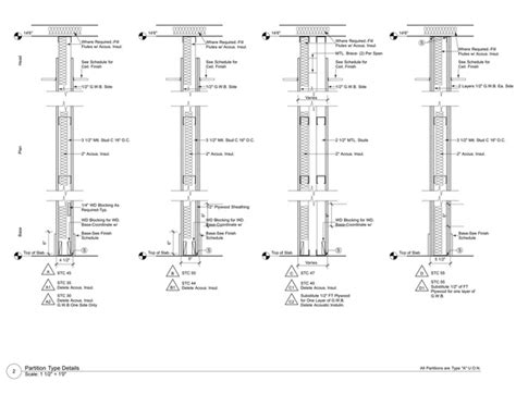 Interior Partition Types by Construction Documents Dandrea Archinect