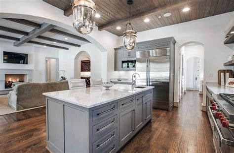 gray floors with hickory cabinets gray kitchen cabinets design ideas designing idea
