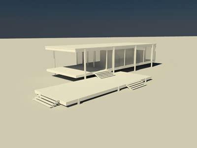 farnsworth house  max model   studio max