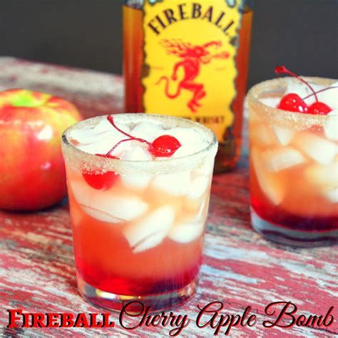 apple martini with cherry fireball cherry apple bomb cocktail the farmwife drinks