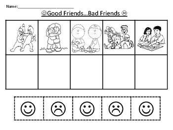friendship worksheet by ppcdwithmrspatterson teachers