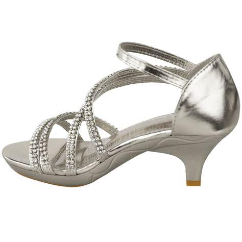 S Bridal Sandals by New Womens Low Heel Bridal Wedding Sandal