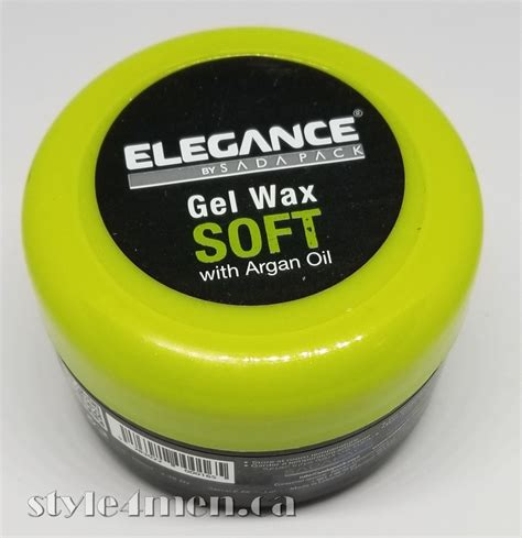 Pomade Wax elegance gel wax soft a firm hold pomade style 4