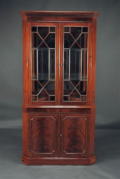 dining room corner cabinets high end mahogany corner china cabinet for traditional
