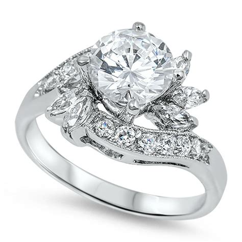 High End Engagement Rings Designers by Beautiful High End Russian Cz Engagement 925 Sterling