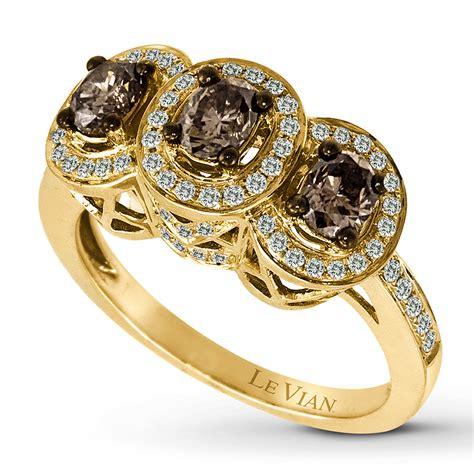 le gold jared levian chocolate diamonds 1 1 4 carat tw ring 14k