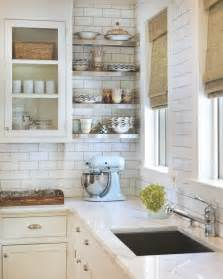 Backsplash For White Kitchen White Kitchen With Subway Tile Backsplash 432