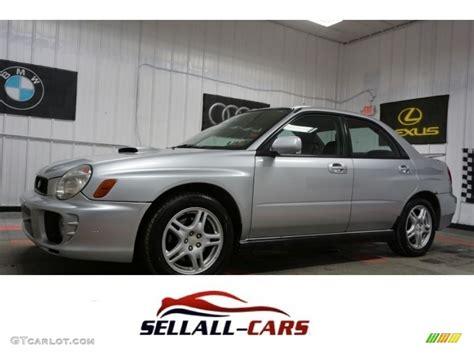 subaru metallic 2002 platinum silver metallic subaru impreza wrx sedan