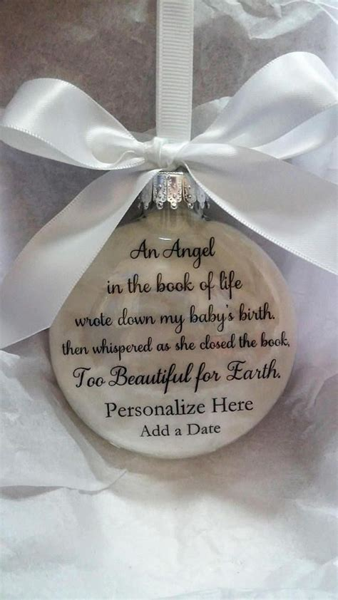 personalized loss  baby memorial christmas ornament  christmas ornaments homemade