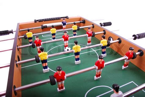 Table Soccer by Table Soccer Football Detail Stock Photo Colourbox