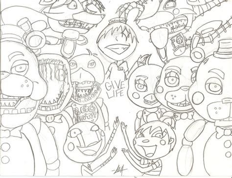 five nights at freddy s coloring book mega coloring book fnaf exclusive work books five nights at freddys 2 coloring pictures reanimators
