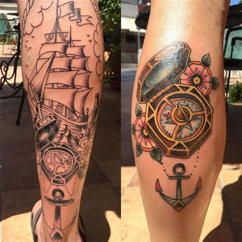 caribbean tattoos the compass from of the caribbean