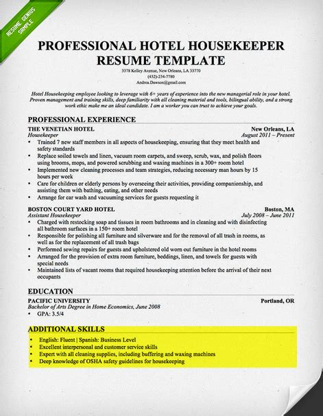 Technical Proficiency Resume Examples by Writing Resume Part 4 Additional Sections Cambly Content