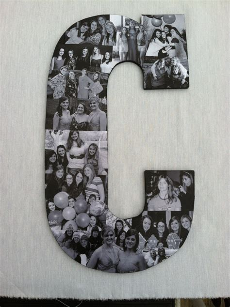Handmade Photo Collage - custom photo collage letter by picketfencecrafts