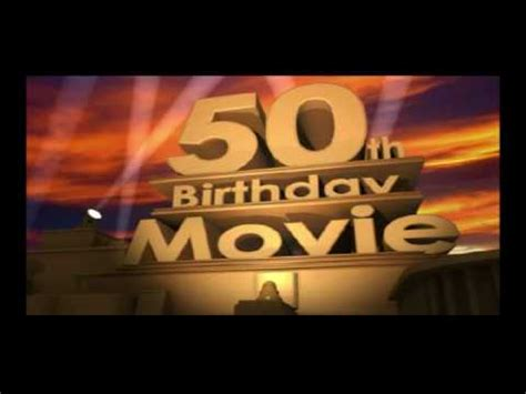50th Birthday Movie Spoof Logo Youtube 50th Anniversary Powerpoint Template
