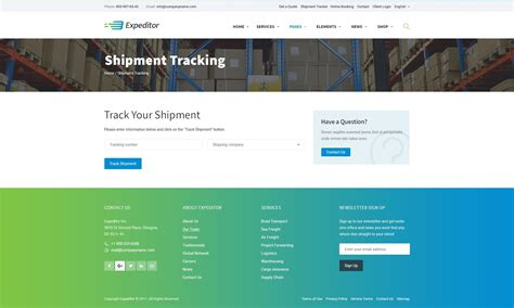 Expeditor Logistics Transportation Psd Template By Monkeysan Themeforest Shipment Tracking Website Template