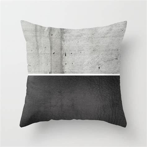 throw pillows for black leather concrete and black leather throw pillow by cafelab