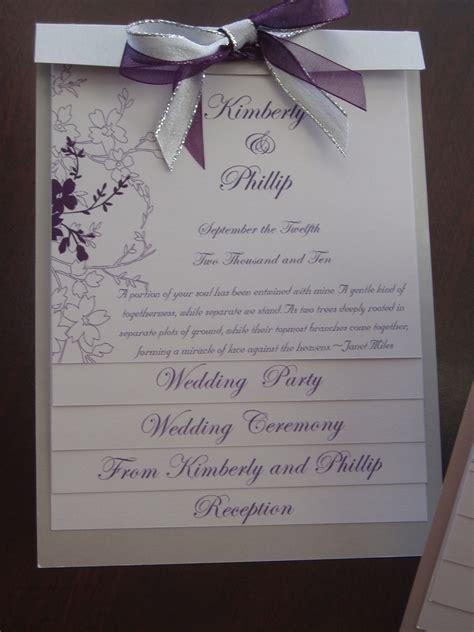 layered wedding program template layered wedding program sle by platinuminvitations on etsy
