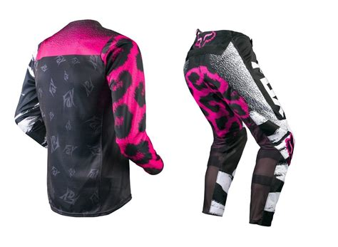ladies motocross gear fox mx 2015 180 black pink ladies girls mtb motocross dirt