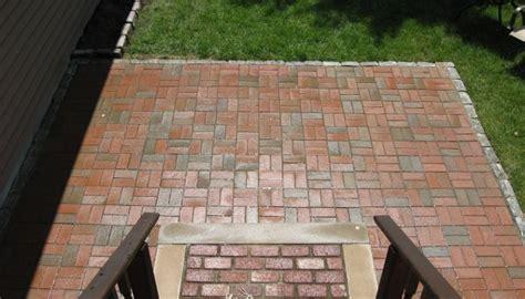 Basket Weave Brick Patio by Patios