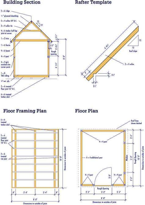 Shed Plans 8 X 10 Shed Plan 12 Feet By 24 Feet Shed Shed Building Plans Uk