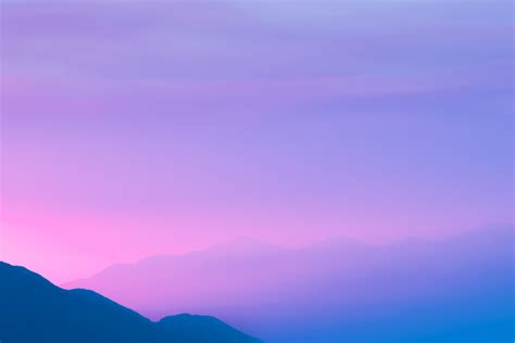 wallpaper mountains foggy purple sky sunset silhouette
