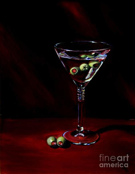 martini painting martini painting by julie pflanzer