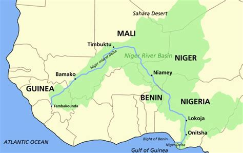 niger river map cruise along the niger river