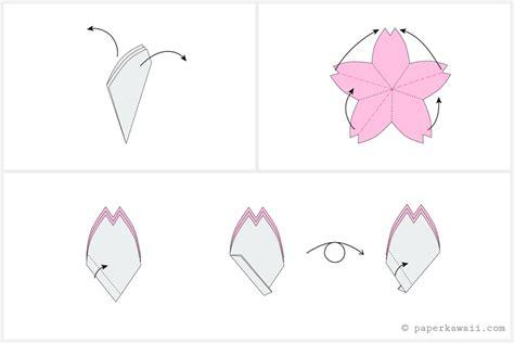 tutorial origami sakura origami cherry blossom tutorial